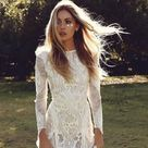 Sexy Long Sleeves Plunge Neck Sparkling Lace & Low Back Wedding Dress Made to Order, Beautiful Mermaid Bridal Gown With Ivory Lace Detailing