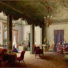 Salon der Kaiserin Alexandra von Russland in der Villa Serradifalco bei Palermo, 1856  Carl Ludwig Rundt, (1802-1868)  Stiftung Preußische Schlösser und Gärten Berlin-Brandenburg (SPSG)