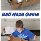 Make a Ball Maze Hand-Eye Coordination Game - Frugal Fun For Boys and Girls