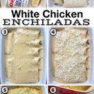 Creamy White Chicken Enchiladas Quick & Easy Dinner Recipe