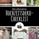 Die ultimative Hochzeitsdeko-Checklist   Gratis Download - Hochzeitskiste