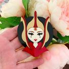 PREORDER   Liberty Dies With Thunderous Applause   Laser cut acrylic brooch