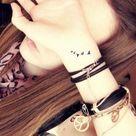 Bird Tattoo Wrist