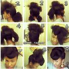 Natural Updo Hairstyles
