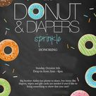 Diapers and Donuts Baby Shower: Printable Invitation