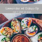Sommerrollen mit Erdnuss Dip  Freistyle – Verena Frei