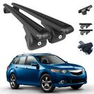 Roof Rack Cross Bars Luggage Carrier Black for Acura TSX Sport Wagon 2011 2014