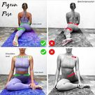 """M Yoga Gear   Namaste 🙏 on Instagram """"I highly recommend you follow👉 1800flybaby for more Yoga Poses & Tips 🧘♀️.   Alignment in Single Pigeon means everything. Happy hips =…"""""""