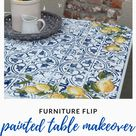 Drop-Leaf Table Makeover | Blue & Yellow Furniture Flip