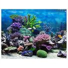 Aquarium Background Fish Tank Decorations Pictures PVC Adhesive Poster Underwater Coral Backdrop Decoration Paper Cling Decals Sticker - 61*30cm