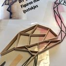 DIY geometrische figuren met ijsstokjes