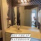 Affordable DIY bathroom renovation