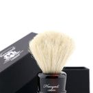 White Badger Hair Shaving Brush In Red & Black Color Handle