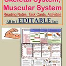 Editable Teaching Resources on Skeletal System and Muscular System for Grades 4 to 7 & Homeschooling