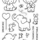 Elephant Friends Stamp