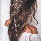 Crystal and Pearl hair vine Extra Long Hair Vine Bridal Hair Vine Wedding Hair Vine Crystal Hair Pie