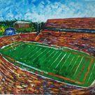 Memorial Stadium,Tigers, Clemson, South Carolina-KoKing FORT-h6-Home Decor Holiday Artwork Texture Painting Dining Wall Art