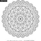 Similar Images, Stock Photos & Vectors of Monochrome ethnic mandala design. Anti-stress coloring page for adults. Hand drawn vector illustration - 775741045