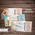 Boarding Pass Wedding invitation Destination Wedding Beach | Etsy
