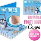Training Manual EDITABLE Front Covers, Fat Freeze Cryo Template x2, Canva Editable, Customisable, Add Your Logo, Ebook Cover, Instant Access