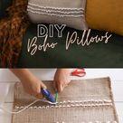 IKEA HACKS: Boho Pillows using IKEA rugs