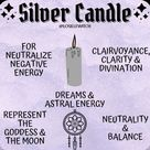Silver candle info