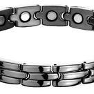 2TG Titanium Magnetic Bracelet With Gun Metal Finish - 6.75