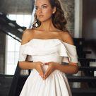 Hochzeitskleid 'KAMILLA' / satin Hochzeitskleid