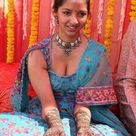 Indian Dulhan in Blue Saree