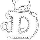 Buchstabe - Letter D