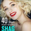 40 Short Super Spunky Shag Hairstyles
