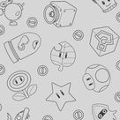 Mario bross tattoo pixel   Etsy