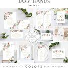 Blush Pink and Mauve Wedding Invitation Template, Wedding Invitation Template Bundle, Wedding Invitation Kit, Wedding Bundle Template