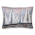 Longshore Tides Painterly Sailboats Indoor/Outdoor Throw Pillow Pink 14.0 x 20.0 x 1.5 in   Wayfair Canada