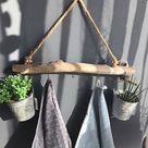 Garderobe Holz/Ast Dekozweig NEU Vintage