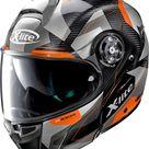 X-Lite X-1004 Ultra Carbon Dedalon N-Com flip flup helmet - Black/Grey/Orange - S