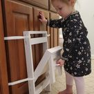 Compact Fold Up Step Stool for Small Spaces, Bathrooms & Kitchens