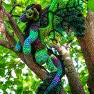 Elemental Earth Dragon Crochet Amigurumi Digital PDF Pattern by Crafty Intentions