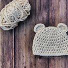 Crochet Bear Ears for Beanie Photo Tutorial - ChristaCoDesign