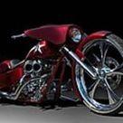 Custom Bagger Motorcycle Art Print by Tim McCullough
