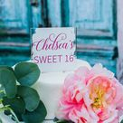 Acrylic Cake Topper, Personalized Name Wedding or Birthday Cake Top, Bridal or Baby Shower Modern Cake Topper, Sweet 16