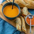 Diese Rote Linsen Suppe ist der Knaller   mit Kokosmilch, Paprika & Curry