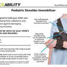 Pediatric Shoulder Immobilizer Arm Sling for Kids and Children