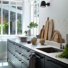 Schwarze Designer-Küche: Moderne Küche im skandinavischen Stil - Küchenfinder