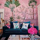 Hand painted wallpaper and fabrics