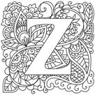 Mendhika Letter Z | Urban Threads: Unique and Awesome Embroidery Designs