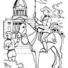 Canadian Mounties - Royal Canadian Mounted Police Coloring Pages