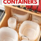 12 Ways To Organize Tupperware & Food Storage Containers - Organization Obsessed