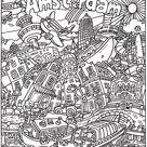Kleurplaat kleurplaat voor volwassenen: Amsterdam