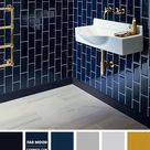 Deep Blue Bathroom